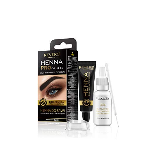 Augenbrauen und Wimpern Farbe schwarz 1.0 Bio Formel Creme 15 ml + 15 ml Aktivator