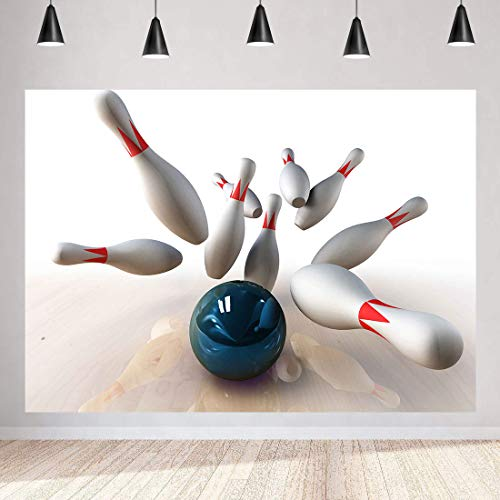 Bowling Movement Backdrop Fitness Abstract Photography Background MEETSIOY 7x5ft Themed Party Photo Booth YouTube Backdrop PMT625