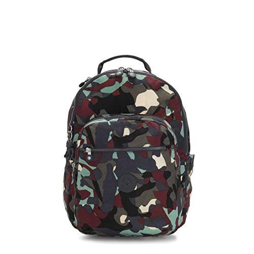 Kipling SEOUL School Backpack, 44 cm, 27 liters, Multicolour (Camo L)