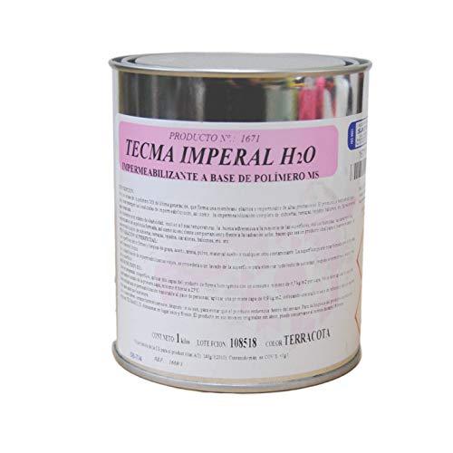 Impermeabilizante para tejados,cubiertas, terraza, balcones en base a MS polímero TECMA IMPERAL H2O color Terracota de SATECMA; Envase 1 Kg