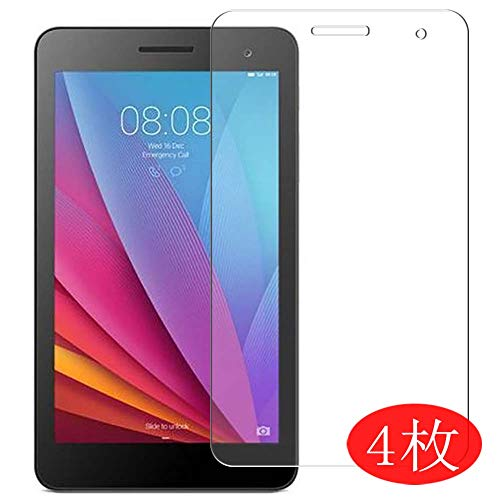 【4 Pack】 Synvy Screen Protector for Huawei MediaPad T1 7.0 7' 0.14mm TPU Flexible HD Clear Case-Friendly Film Protective Protectors [Not Tempered Glass] New Version
