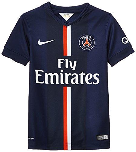 NIKE - Camiseta de fútbol para niño, diseño del Equipo Paris Saint-Germain, Temporada 2014/15, Color Azul - Midnight Navy/Game Royal, tamaño XL
