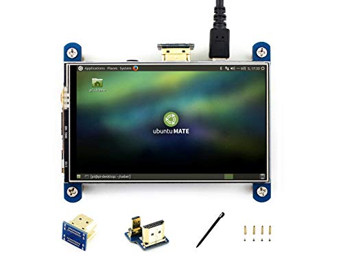 IBest Waveshare 4inch HDMI LCD Display Module Resistive Touch IPS Screen 800*480 Resolution HDMI Interface for all Revsions of Raspberry Pi 3/2/1 Model B+/B /A/A+
