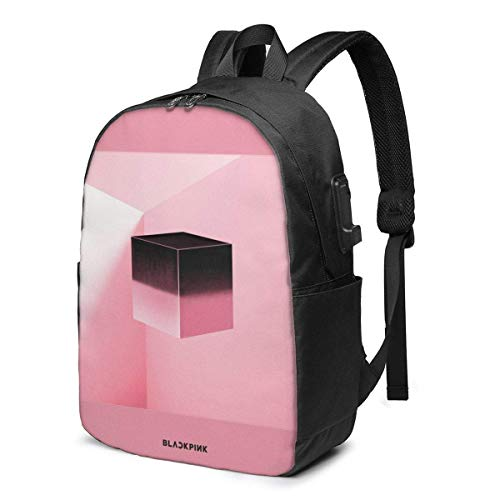 Blackpink Square Up Leisure USB 17in Mochila Laptop Hombro Ajustable Busin Travel School