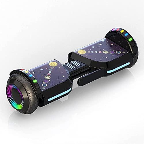 """J&Z Hoverboard, Todo Terreno De Dos Ruedas De Dos Ruedas 6.5""""Uniciclo Eléctrico Inteligente, Auto-Alineado con Luces LED De Altavoz Bluetooth Incorporado para Niños Adultos Regalo"""