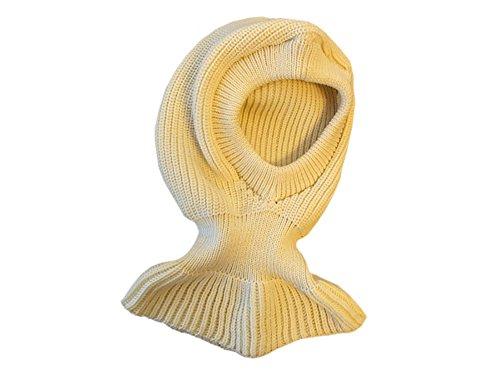 tevirP 100% Merino Wolle Balaclava Hut Mütze Schal Gestrickt Schafswolle Erwachsene Frauen Männer Unisex Natural White