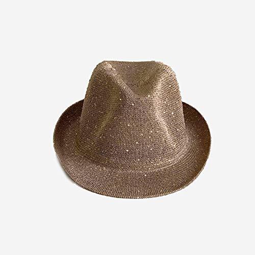 Sombreros De Paja Gorra De Mujer Retro Hombres Jazz Sombrero para El Sol Sombreros Gorra Versión Clásica Sombreros Chapeau