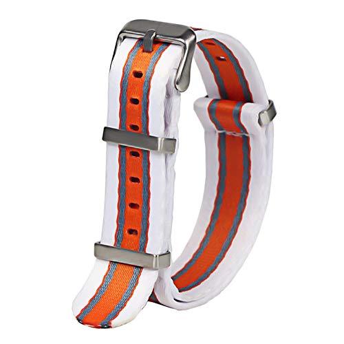 WNFYES 20mm 22mm cinturón de Seguridad Reloj con Correa de Nylon Correa de Reloj de Nailon (Band Color : H114 S, Band Width : 20mm)