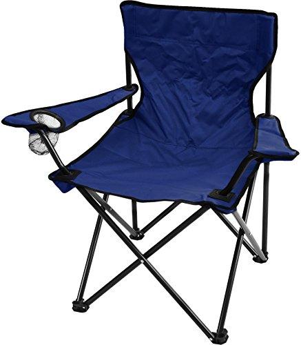 normani Outdoor Faltstuhl klappbar Campingstuhl Klappstuhl Anglersessel mit Getränkehalter Farbe Marine