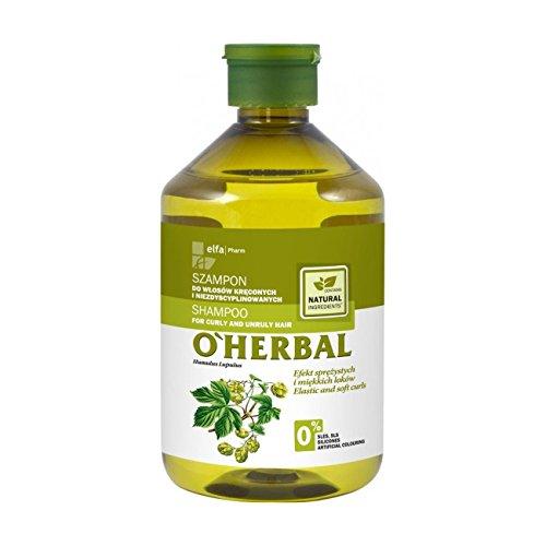 O'Herbal Shampoo voor krullend en weerbarstig haar met hop extract, 600 g