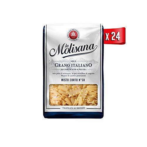 La Molisana, Misto Corto n.58 Pasta Corta, SOLO Grano Italiano - 24 confezioni da 500g (tot 12kg)