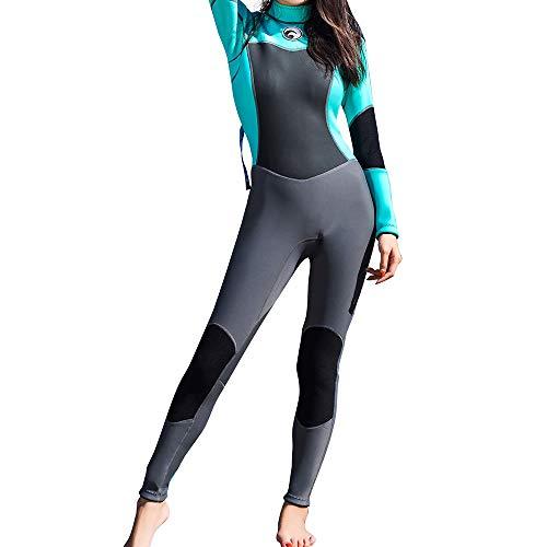 HBRT Muta da 1,5 mm, scaldamano da Donna, Costume da Bagno Caldo da Surf Invernale, Costume da Bagno Snorkeling da Nuoto,XL