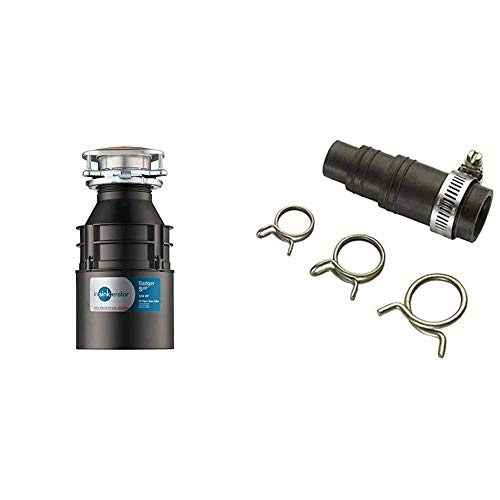 InSinkErator Garbage Disposal, Badger 5XP, 3/4 HP Continuous Feed & DWC-00 Dishwasher Connector Kit, Black