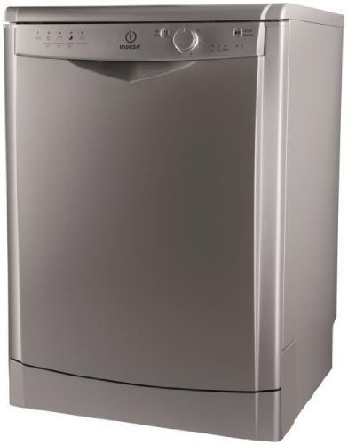 Indesit DFG 15B1 S IT Lavastoviglie (Independent, 60 cm, Bottoni, ruotabile, 1,28 m), Argento