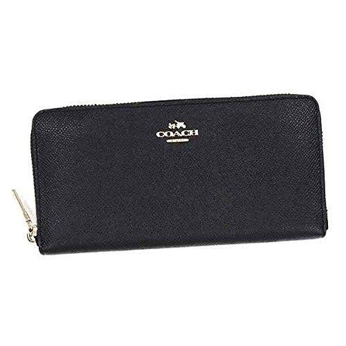 コーチ COACH 長財布 ブラック 財布 男女兼用 メンズ財布 ファスナー 大容量 F52372 [並行輸入品]