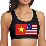 YBRB American Vietnam Flag Damen Nahtlose Sport-BH Bralette