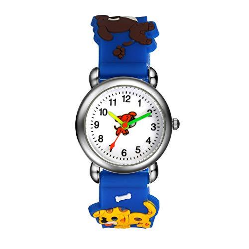 Niños Niños Reloj, Niños Lindo Dibujos Animados Coloridos Diseño Único Bombero Patrón Cómodo Banda Relojes De Pulsera De Cuarzo Analógico - Verde