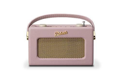 Roberts Revival Uno Retro Portable Compact DAB DAB+ FM Digital Radio with Alarm Clock Radio, Dusky Pink