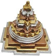 "finaldeals Panch Dhatu (Mix Metal) Laxmi Luxmi Meru Shree Yantra (Silver, Copper, Gold) - 2"""