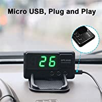 スピードメーター GPSスピードメーターHUDディスプレイカーKM/H MPH安いC80オートエレクトロニクススピードディスプレイ大画面A100 HUD (Color : C90 stand no project)