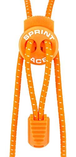 Sprint-Laces - elastische Schuhbänder für Running, Triathlon, Trekking, Fitness, Freizeit, etc. Farbe Bright Orange