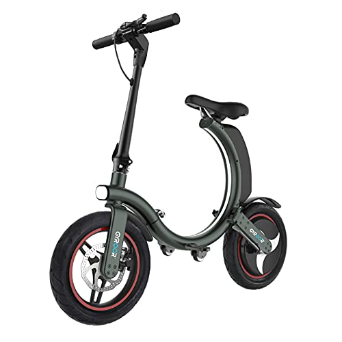 Gyroor Electric Bike for Adults, 450W eBike with 18.6MPH up to 20 Mileage, Folding Electric Bike 14in Air-Filled Tires, Disc and Electronic Brake, 3 Speed Modes