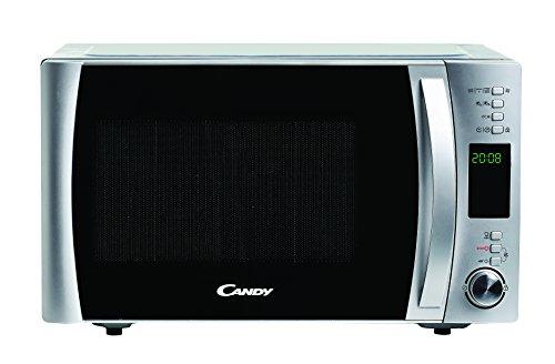 Candy CMXC25DCS - Horno microondas combinado con grill y cook in app, Capacidad 25L, 40 Programas Automáticos, Plato giratorio 31,5cm, Potencia 900W/1000W/2000W, Color silver