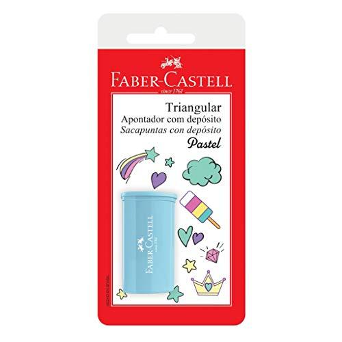 Apontador com Depósito, Faber-Castell, SM/125TZF, Cores Pastel Sotidas