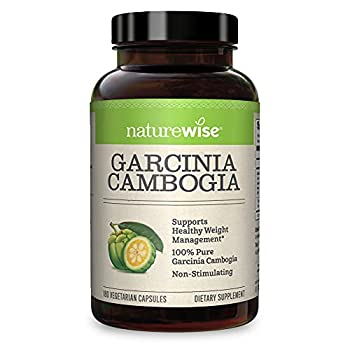 NatureWise Pure Garcinia Cambogia  2 Month Supply  100% Natural HCA Extract Concentrated to 60% to Support Metabolic Processes and Discourage Cravings with Superior Absorption  180 Count