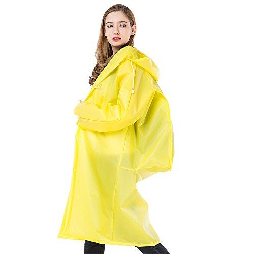Sunmoch Nicht-Einweg Regenponcho Wasserdicht Regenjacken Motorad Regenmantel Mode Regenjacke Eva Raincoat Regencape Fahrrad(Gelb M)