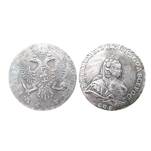 Silbermünzensammlung, 1741 Zar Russische Antike Münze, Russische Kaiserin Elisabeth I. Kaiserin Silbermünze Rubel Münze