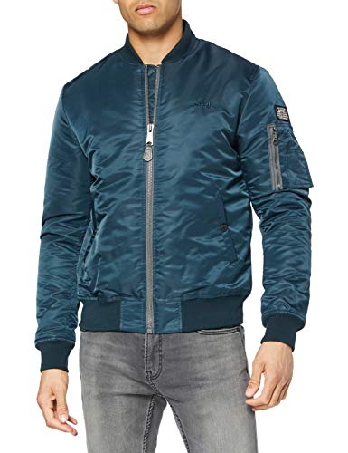 Schott NYC Herren Airforce1 Jacke, Blau (Navy), Medium