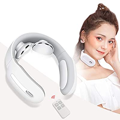 Neck Massager, Intelligent Portable Neck Massge with Heat, Cordless Massage Equipment, 3 Modes 15 Speeds at Home Office Outdoor Travel Car Airplane, Gifts for Women Men Dad Mom