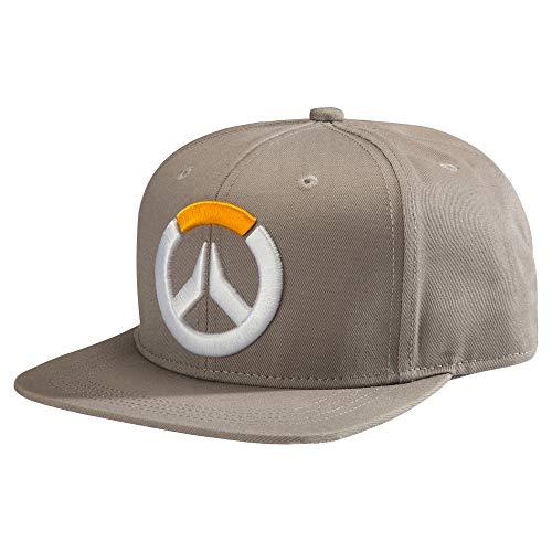 JINX Overwatch Frenetic Snapback Baseball Hat, Grey, One Size