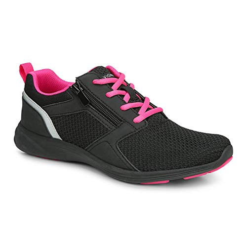 Vionic Women's Agile Lyla Comfortable Leisure Shoes- Supportive Walking Sneakers That Include Three-Zone Comfort with Orthotic Insole Arch Support, Sneakers for Women Black 9 Medium US