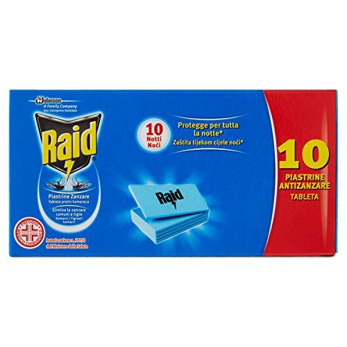 Raid – Plaquettes anti-moustiques – 6 boîtes de 10 plaquettes [60 plaquettes]