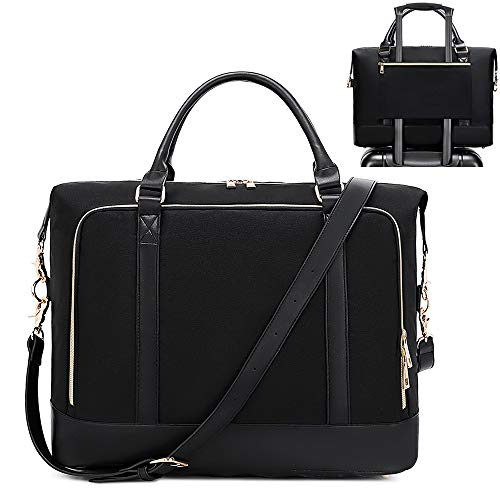 Weekender Women's Bussiness Travel Handbag Sports Bag Weekend Bag Black Black (black-2)