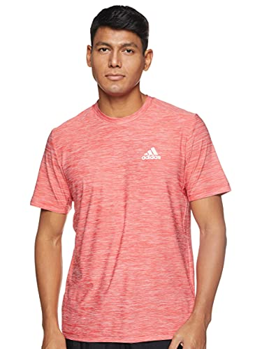 adidas D2M Heather- Camiseta Fitness para Hombre (L)
