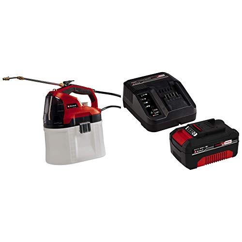Einhell Pulvérisateur à pression sans fil GE-WS 18/75 Li-Solo Power X-Change (lithium-ion, pompe automatique,réservoir transparent,lance télescopique) VERSION KIT LIVRE AVEC BATTERIE 4,0Ah + CHARGEUR
