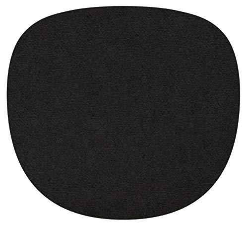 Feltd. Eco Fieltro Edición 4mm Simple - Adecuado para Vitra Eames Sidechair - 30 Colores Incl. Antirutschunterlage - Negro, 40 x 37cm