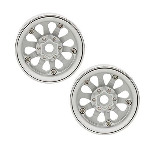 Weikeya RC Rueda Centro, Compacto Aluminio Rueda Maleficio 57x57x27cm con Aluminio Aleación Superficie Tratamiento por Axial Scx10 Scx10 II 90046
