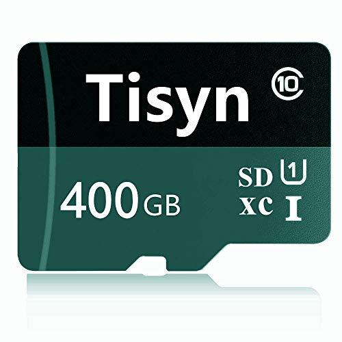 Tisyn 400GB Micro Speicherkarte, SD Karte 400GB Class 10 Speicherkarte + SD Adapter (L2F-D7) (400 GB)