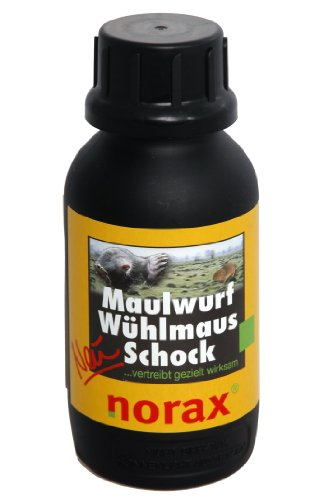 norax Maulwurf Wühlmaus Schock 500 g - Granulat zur Maulwurfbekämpfung und Wühlmausbekämpfung