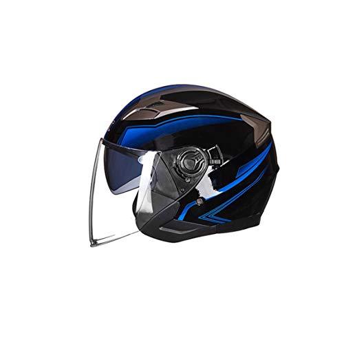 Casco de cara abierta para motocicleta, motocicleta, ciclomotor, Jet Bobber, piloto, Chopper, 3/4, medio casco con visera para hombres y mujeres adultos