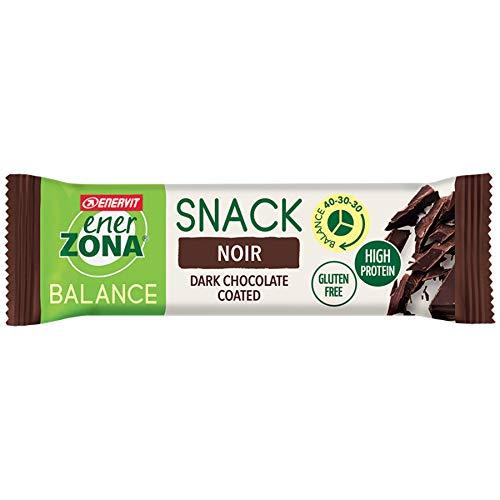 Enerzona Snack 40-30-30 Confezione da 30 Barrette Gusto Fondente Noir