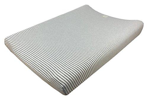 Fundas Bcn ® - F11 - Funda Cambiador Bebe 70x50 Centímetros - De Algodón – Suave, Elástica Y Adaptable (Kodak Stripes)
