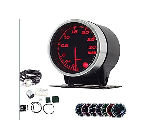 HUIHUI Store Lente de Humo de 5 Pulgadas de 52 mm 3Bar Turbo Gauge Turbo Boost Medidor con Sensor electrónico