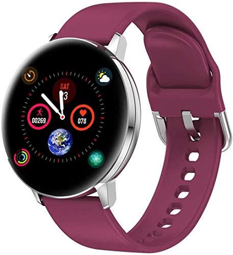 JIAJBG Smart Watch, Pantalla a Color de 1.3 Pulgadas con Estilo Inteligente Inteligente Inforión de Sueño Recordatorio de Salud de la Moda de la Moda Desgaste diario/Púrpura