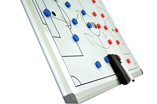 POWERSHOT Taktiktafel Fußball - 3 Verschiedene Größen zur Auswahl - Taktiboard Inkl. Magnete und Filzstift mit Schwamm (90 x 60 cm)