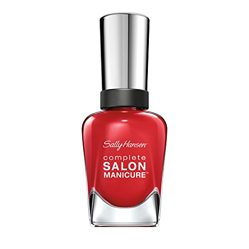 Sally Hansen Complete Salon Manicure Nagellack, Farbe 570, Right Said Red, knalliges rot, 1er Pack (1 x 15 ml)